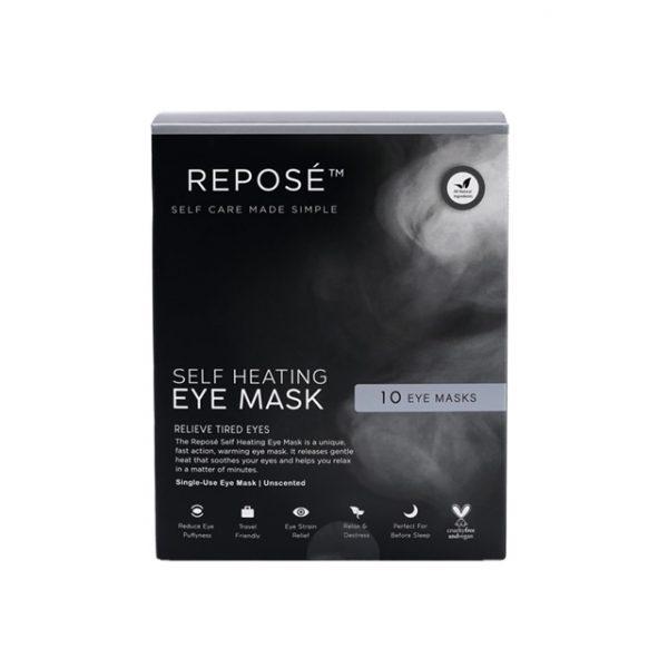 Heated eye mask pack for dry eyes