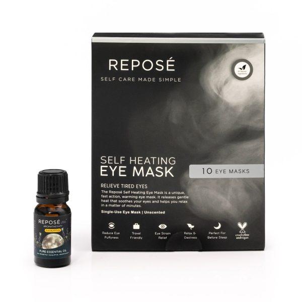 Self Heating Eye Mask and Essential Oil Bundle